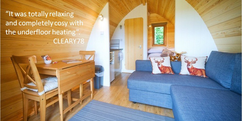 Holiday accommodation in glamping / camping pods nr. the Lake District, north lakes