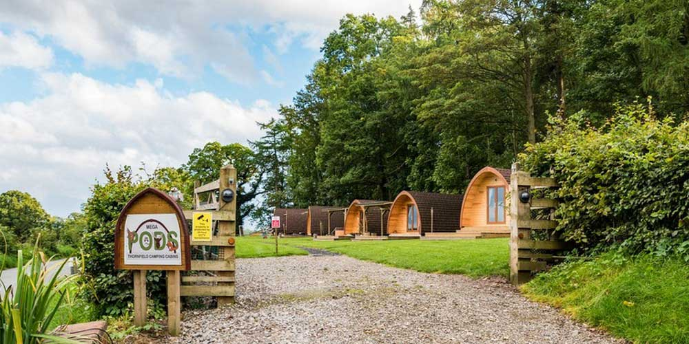 Camping cabins and luxury glamping pods in nr. the north Lakes, Cumbria, UK