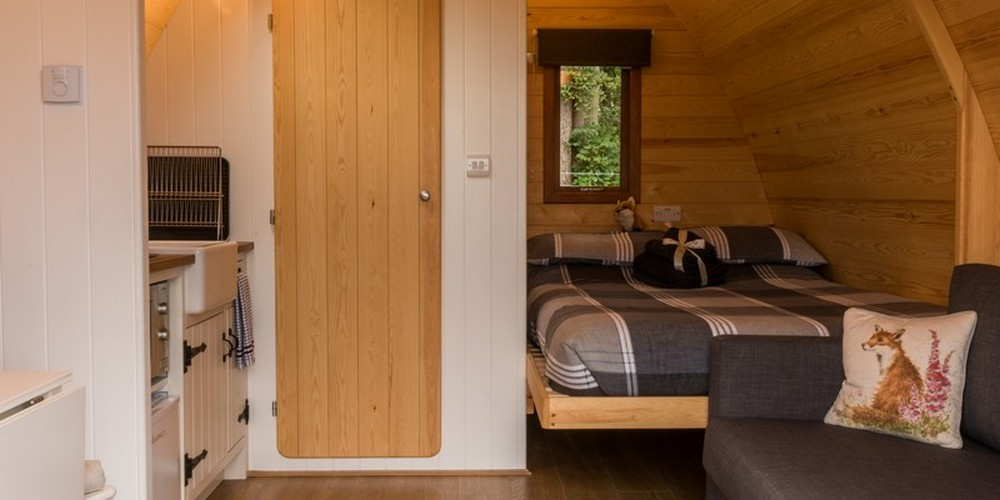 Luxury glamping in Cumbria outside Dalston, UK