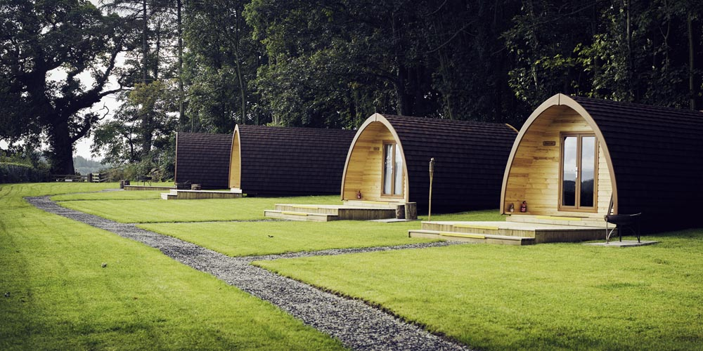 Thornfield glamping / camping pods, Lake District, north Cumbria, UK