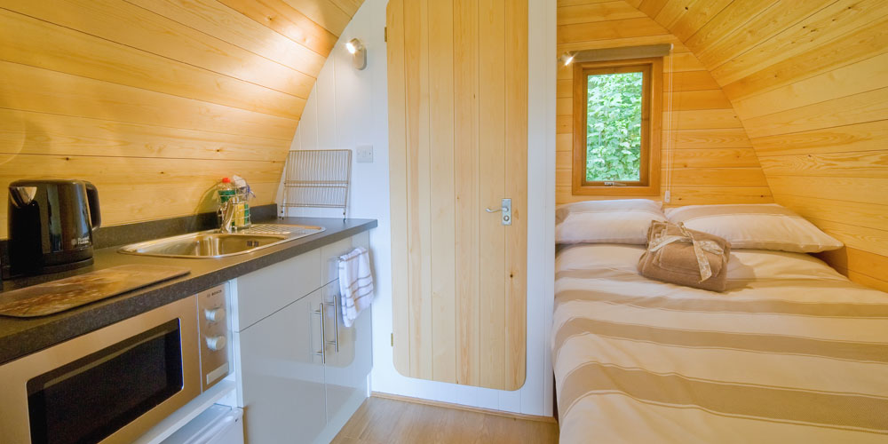Thornfield camping cabins, glamping and camping pods near Dalston, Carlisle, Cumbria