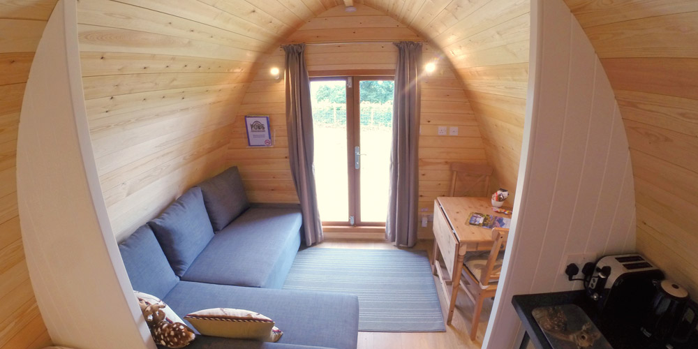 Luxury glamping camping cabins in Dalston, nr. the Lake District and Carlisle